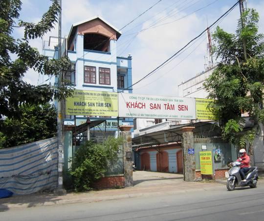 Khách sạn Tâm Sen nơi xảy ra vụ việc