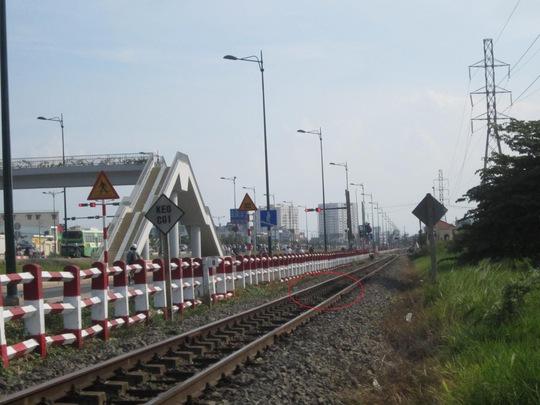 Đoạn đường ray nơi xảy ra vụ tàu tông người phụ nữ