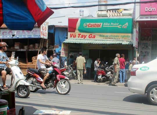 Tiệm sửa xe Vũ tay ga nơi anh Sơn chết bí ẩn
