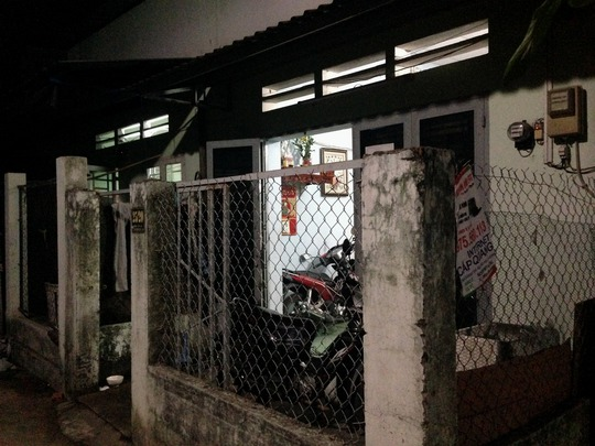 Khu nhà trọ nơi xảy ra vụ việc