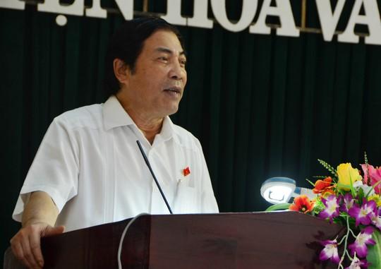 Ông Nguyễn Bá Thanh trong một lần tiếp xúc cử tri tại Đà Nẵng vào 7-2014