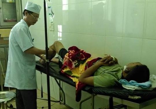 Ông Đính đang được chữa trị tại Bệnh viện Quân y 211