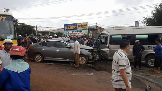 Hiện trường vụ tai nạn - Ảnh người dân cung cấp