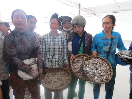 Số cá, mực của họ đã bị ương do 2 ngày không bán được hàng