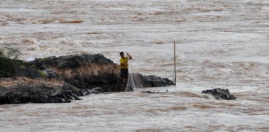 Vị trí Lào sẽ xây dựng thủy điện Don Sahong trên sông Mê Kông. (Ảnh do Tổ chức Xông ngòi quốc tế cung cấp)