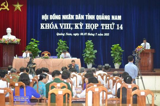 Kỳ họp thứ 14, HĐND tỉnh Quảng Nam khóa VIII đã kết thúc sau 2 ngày làm việc