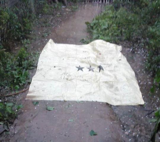 Mưa đá xuất hiện tại xã Mai Sơn, huyện Tương Dương, Nghệ An chiều ngày 29-3.