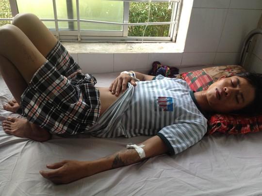 Nguyễn Tiến Thành khi nằm điều trị tại bệnh viện Bà Rịa