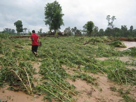 Thủy điện Ia Krel 2 bị vỡ làm người dân vùng hạ du thiệt hại nặng