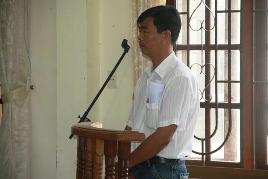 Bị cáo Nguyễn Đức Đạo tại phiên tòa sáng 11-5