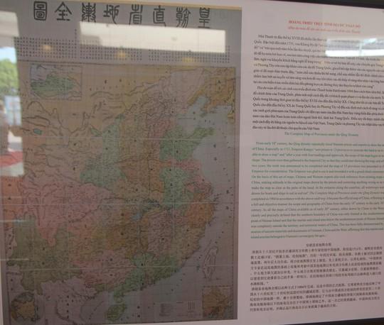 Các tư liệu lịch sử khẳng định Hoàng Sa, Trường Sa là của Việt Nam được trình bày tại triển lãm.
