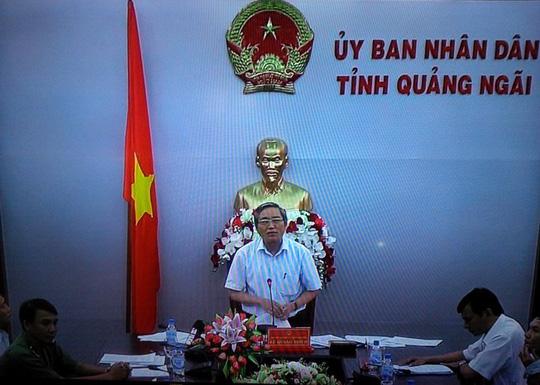 Phó Chủ tịch Thường trực UBND tỉnh Quảng Ngãi - ông Lê Quang Thích phát biểu