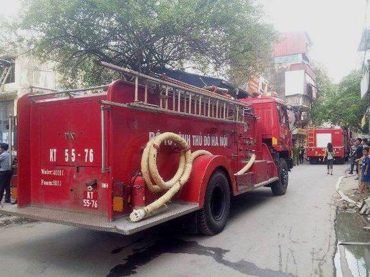 Xe chữa cháy được điều đến hiện trường