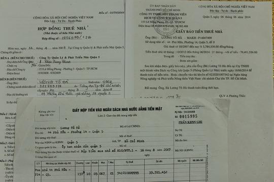 Những giấy tờ chứng minh ông Hà là người mua 30 m2 diện tích và thuê phần diện tích nhà còn lại của nhà nước
