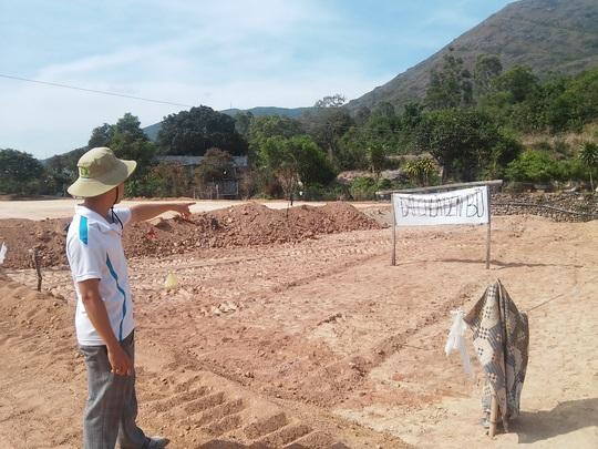 Thửa đất của ông Trần Văn Chí bị Công ty TNHH Đức Minh tự ý đổ đất san lấp