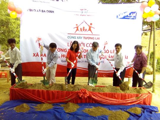 Lễ khởi công xây dựng Trường Mầm non Gò Lê vào ngày 21-7Ảnh: Nguyễn Vũ