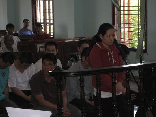Bị cáo Lâm Thị Xuân Thùy tại phiên tòa ngày 21-1