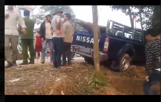 Hiện trường vụ tai nạn giao thông làm ông Đinh Văn Tiến và ông  Lê Văn Tưa tử vong