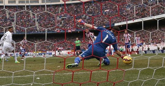 Pha bắt bóng lóng ngóng của Casillas