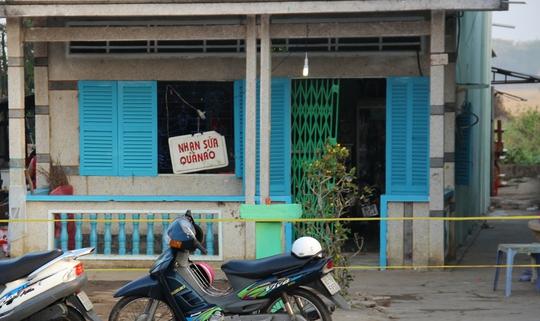 Căn nhà nơi ông Tuấn bị giết.