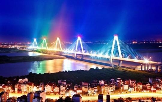 Đề xuất bắn pháo hoa tại cầu Nhật Tân để biến đây thành điểm đến văn hóa, du lịch của Thủ đô Hà Nội