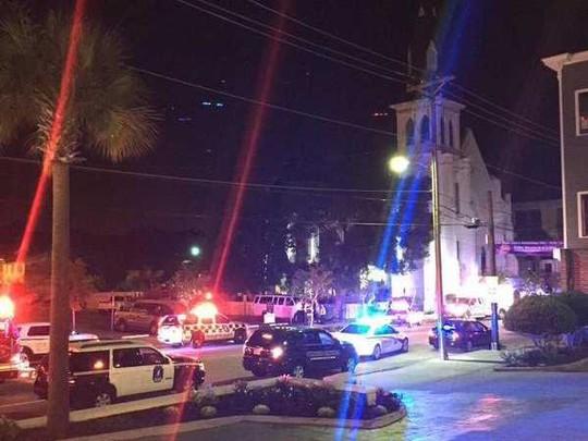 vụ nổ súng diễn ra tại nhà thờ Emanuel AME. Ảnh: Twitter
