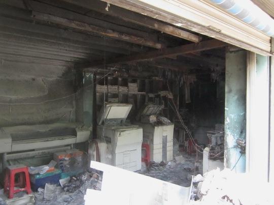 Nhiều máy móc và tài sản bên trong bị thiêu rụi