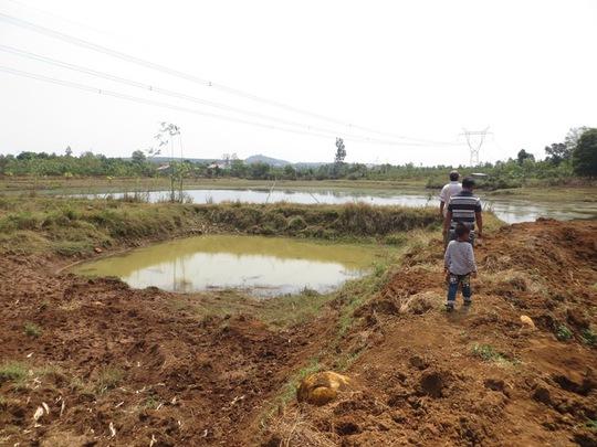 Hồ nơi xảy ra vụ đuối nước thương tâm.