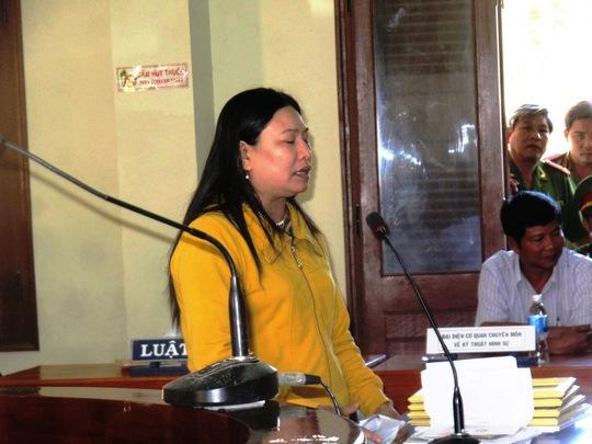 Chị Ngô Thị Tuyết cho rằng cáo trạng truy tố không đúng