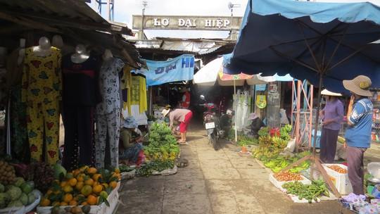 Chợ Đại Hiệp cũ nơi bà Tân tự thiêu sáng 31-1 Ảnh: TIỂU UYÊN