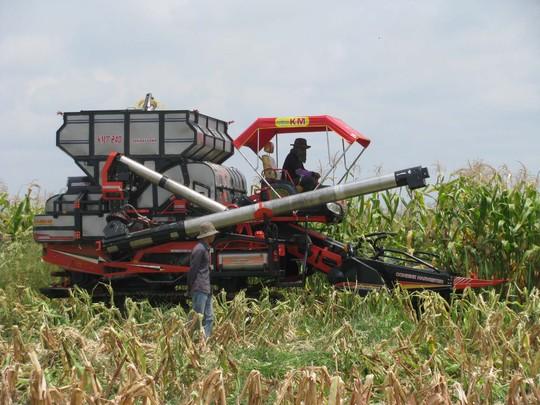 Chỉ có cơ giới hóa, áp dụng công nghệ cao trong sản xuất, sản phẩm nông nghiệp mới hy vọng nâng sức cạnh tranh trước hàng hóa của nước ngoài. Trong ảnh: Mô hình sản xuất nông nghiệp của Hoàng Anh Gia Lai tại Campuchia Ảnh: Quốc Hy