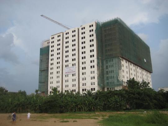 Dự án Dream Home Luxury Apartment được nhà phân phối thông báo chỉ còn 3-4 căn hộ chưa có người mua Ảnh: THY THƠ