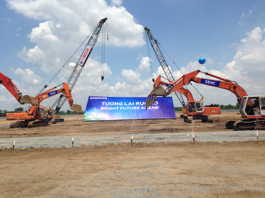 Dự án 1,4 tỉ USD của Samsung vừa khởi công ở TP HCM Ảnh: THÁI PHƯƠNG