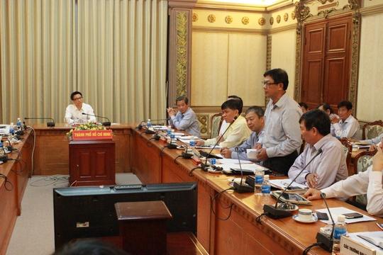 Phó Thủ tướng Vũ Đức Đam chỉ đạo cuộc họp về kỳ thi THPT quốc gia 2015 ở TP HCM ngày 22-5