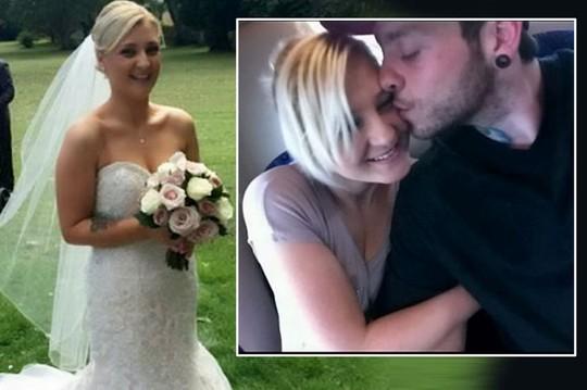Chiếc váy cưới cứng đầu khiến đôi vợ chồng mới cưới đã ly dị. Ảnh: SWNS