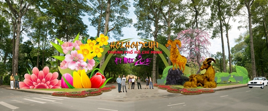 Phối cảnh cổng vào trên đường Trương Định