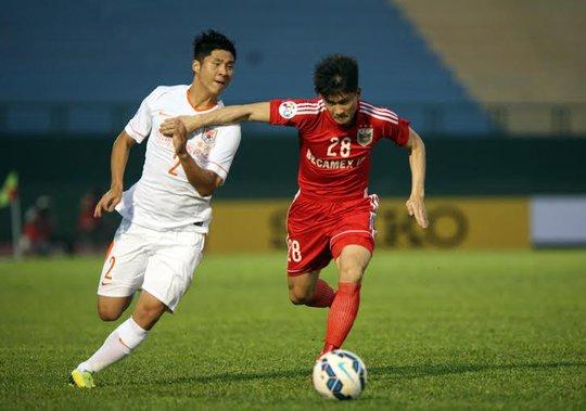 Công Vinh (28), người thi đấu xuất sắc với Sơn Đông Lỗ Năng trong trận lượt đi