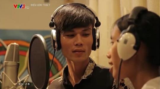 Hai nhân vật chính anh Thanh và chị Đào trong Chương trình Điều ước thứ bảy trên sóng VTV3 ngày 10-1 vừa qua