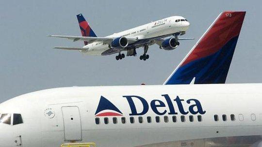 Hãng Delta Air Lines hôm 25-1 đã hủy 600 chuyến bay. Ảnh: EPA