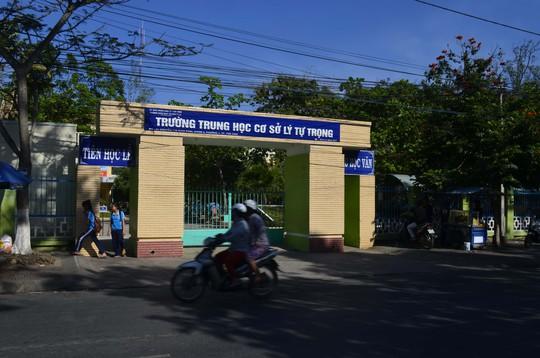 Trường THCS Lý Tự Trọng (tỉnh Trà Vinh), nơi vừa xảy ra vụ nữ học sinh bị bạn đánh trong phòng học, gây xôn xao dư luậnẢnh: Nhật Thanh