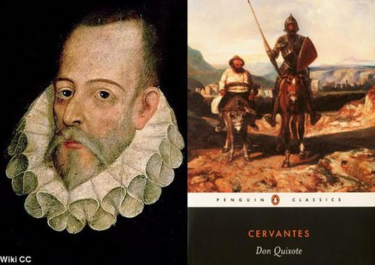 Nhà văn Cervantes là cha đẻ của cuốn tiểu thuyết nổi tiếng về nhà hiệp sĩ quý tộc Don Quixote.