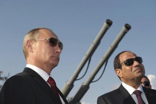 Tổng thống Nga Putin và Tổng thống Ai Cập Abdel Fattah al-Sisi. Ảnh: Reuters