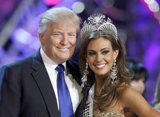 Donald Trump được xem là ông trùm hoa hậu