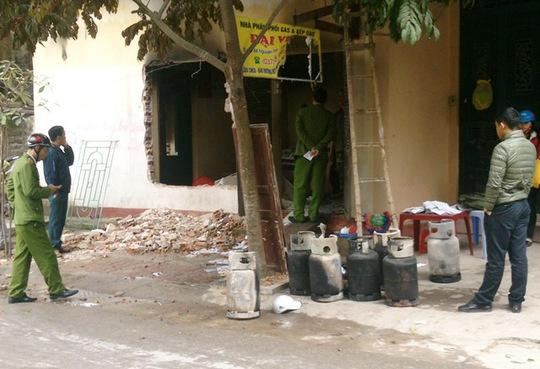 Hiện trường vụ phát nổ đại lý gá trong khu dân cư