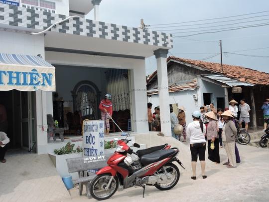 Căn nhà xảy ra vụ án tại xã Long Sơn