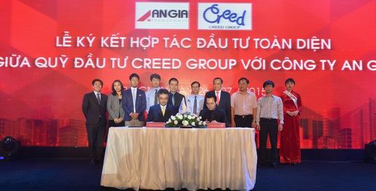 Lễ ký kết hợp tác đầu tư vào lĩnh vực bất động sản giữa Quỹ Đầu tư Creed Group với Công ty CP Đầu tư và Phát triển bất động sản An Gia