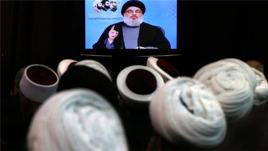 Hassan Nasrallah kêu gọi đoàn kết chống IS. Ảnh: AP