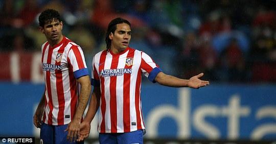 Costa và Falcao sẽ tại hợp tại sân Stamford Bridge