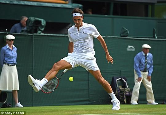 Pha biểu diễn kỹ thuật của Federer