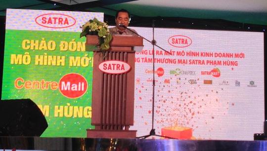 Ông Phạm Văn Bắc - Phó Tổng Giám đốc SATRA, phát biểu tại buổi lễ (ảnh: Phạm Quang)